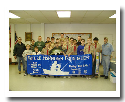Troop 36 with JCAA Youth Education Chairman Greg Kucharewski